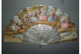 Cherries for afternoon tea, fan circa 1860