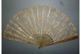Iris, Art Nouveau fan