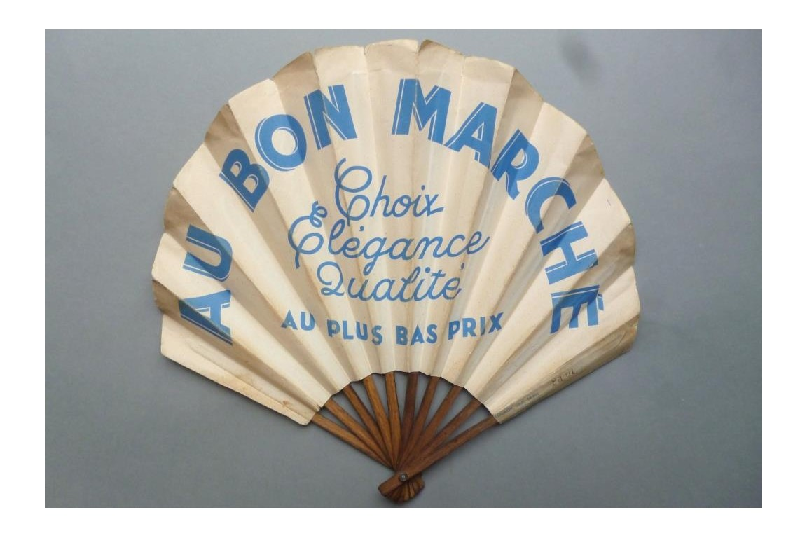 Au Bon Marché, advertising fan