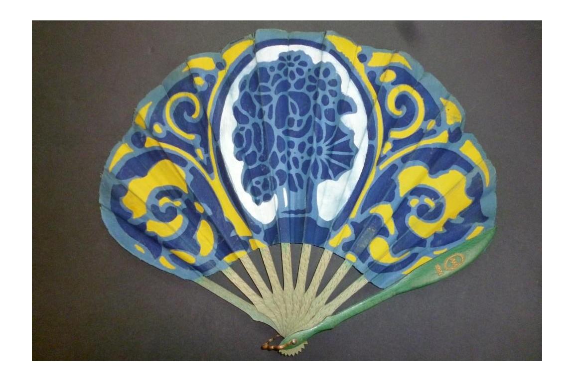 In taste of Ruhlmann, Art Deco fan 1926