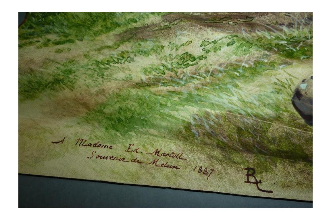 Souvenir de chasse à Melun, éventail de Madame Martell, 1887