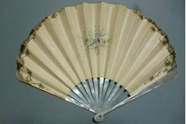 Blind man's buff of Belle Epoque, fan by Cosson and Duvelleroy, circa 1900