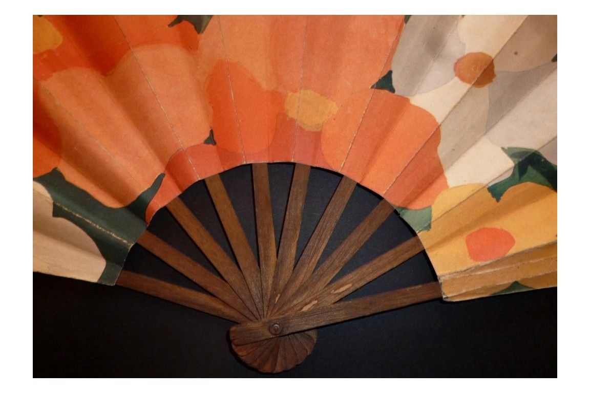 Rosine,  Paul Poiret, advertising fan, Art Deco period