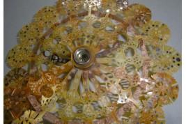 Lorgnette optique, éventail cocarde, période Premier Empire