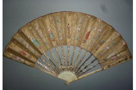 Harlequin and Pierrot ... Late 18th century fan
