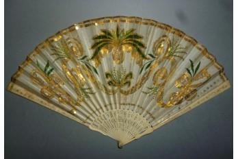 Ananas impérial, éventail vers 1805-10