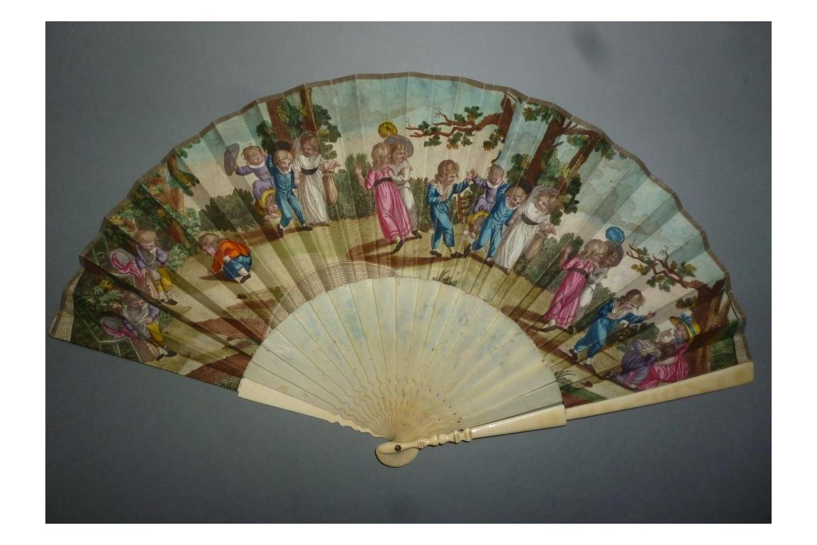 Children, fan circa 1798-1800