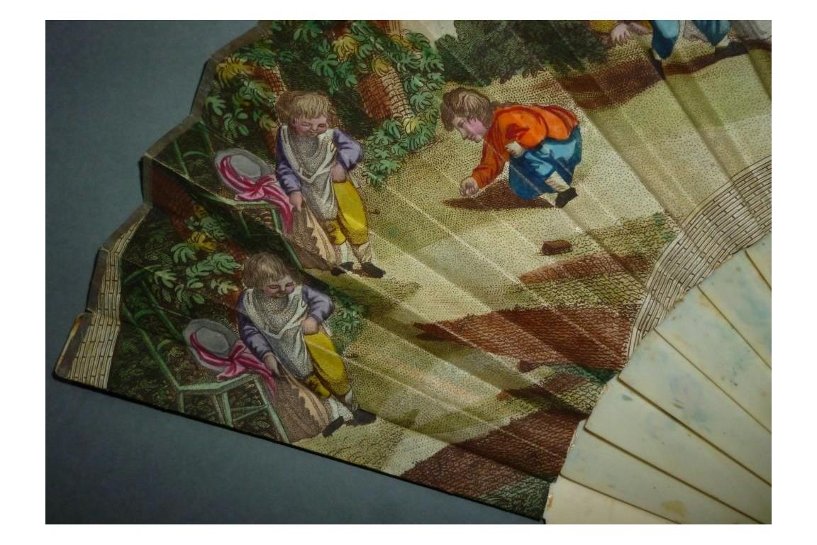 Les enfants, éventail vers 1798-1800