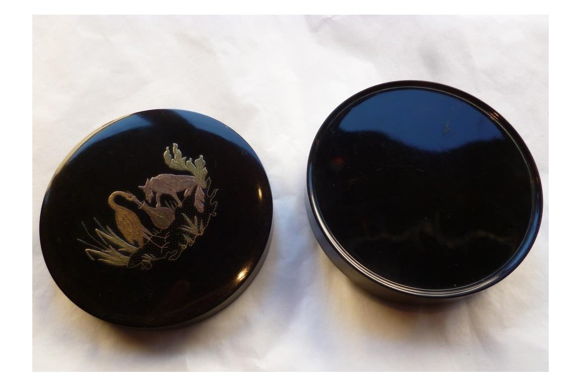 The fox and the stork, snuffbox, 19th century
