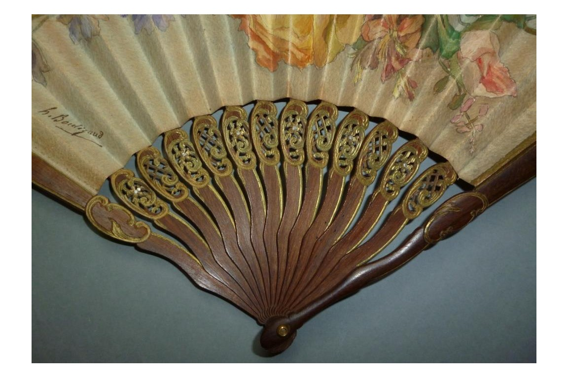 Flowers for Duvelleroy, fan circa 1900