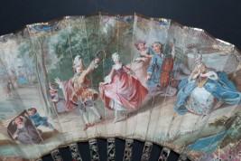 La Camargo dancing, fan circa 1750