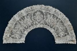 Lilac, Point de Gaze lace (2), fan leaf circa 1860