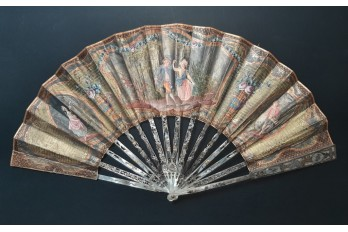 Minuet, pastiche fan, 19th century
