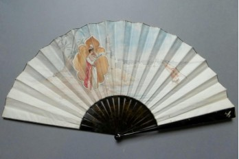 Orientalism by Thomasse, Duvelleroy fan in 1895