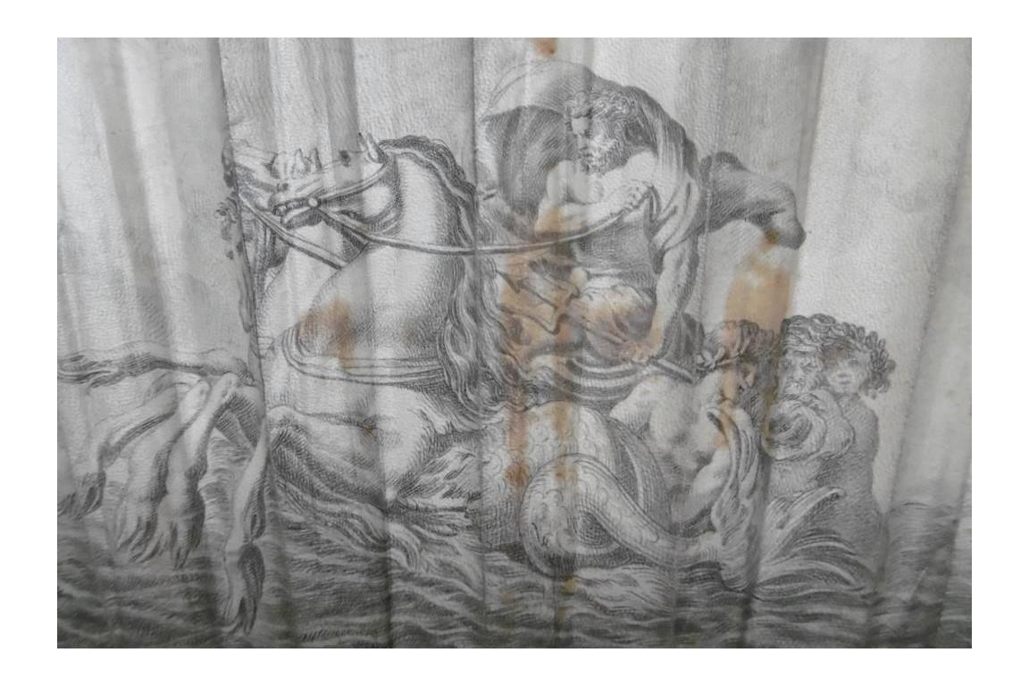 Pen drawing fan : bergerade and Neptune