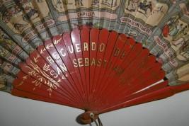 Bullfighting in San Sebastian, 19th century fan
