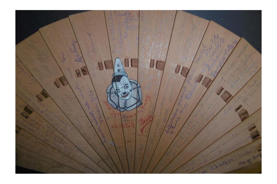 Autograph fan, 1919-20