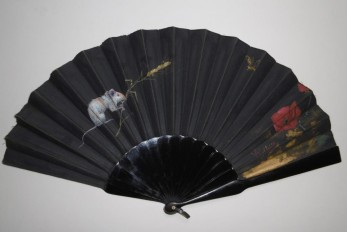 Small field rat, fan by Willette, circa 1890-1900