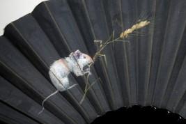 Small field rat, fan by Willette, circa 1890-1900