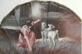 The goats, child fan, circa 1900-1910