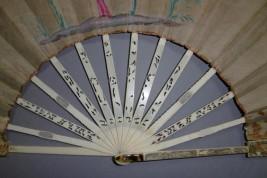Chinoiseries in the garden, fan circa 1770-1780
