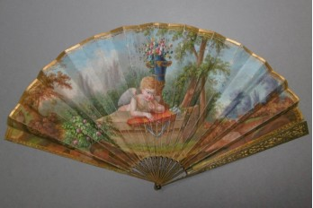 Love on the lookout, fan circa 1800-1810