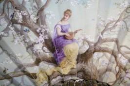 Music of cherry blossoms, fan circa 1880