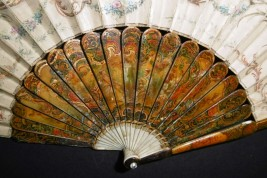 Blind man's buff by Lancret, pastiche fan circa 1900