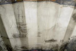 La Pérouse in Port-des-Français, fan circa 1860