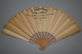 A Gambrinus, advertising fan