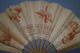 Champagne Piper-Heidsieck et Bols Amsterdam, éventail publicitaire