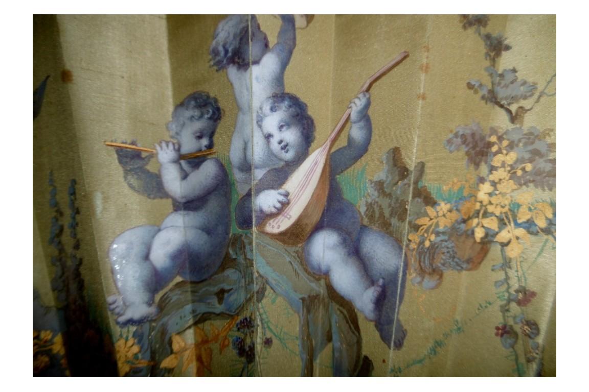Chérubins musiciens, éventail d'Alexandre vers 1870