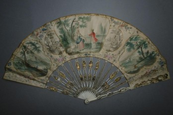 Shepherdess and gentleman, fan circa 1760-70