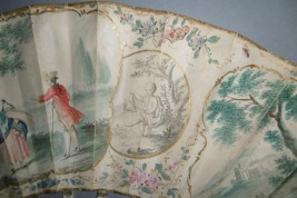 Shepherdess and gentleman, fan circa 1760-70