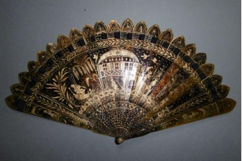 Chinese temple, fan circa 1825-30