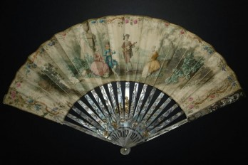 The musician, 18th century fan
