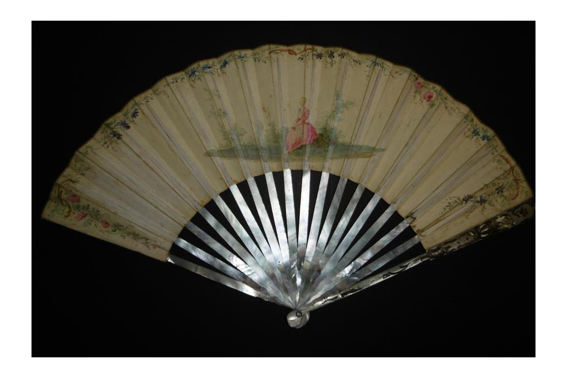 The musician, 18th century fan