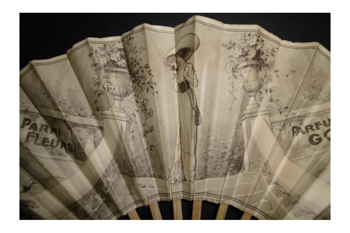 Parfum Godet,  Parmi les fleurs, advertising fan