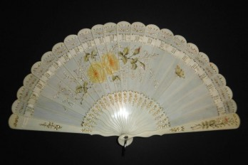 Roses, late 19th century fan