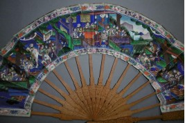 Telescopic, Chinese fan, 19th century
