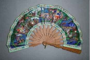 Téléscopique, éventail chinois XIXème siècle