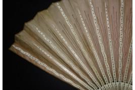 Pink sunshine, fan circa 1880-90