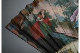 Calypso and Ulysse, fan circa 1720-30