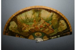 Heracles and Omphale, late 19th century fan