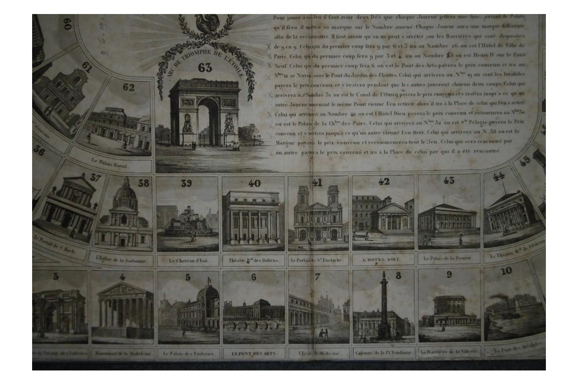 Jeu des Monuments de Paris, goose game, late 19th century ?