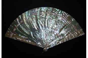 Ocean reflections, fan circa 1900