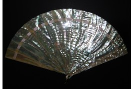 Ocean reflections, fan circa 1900