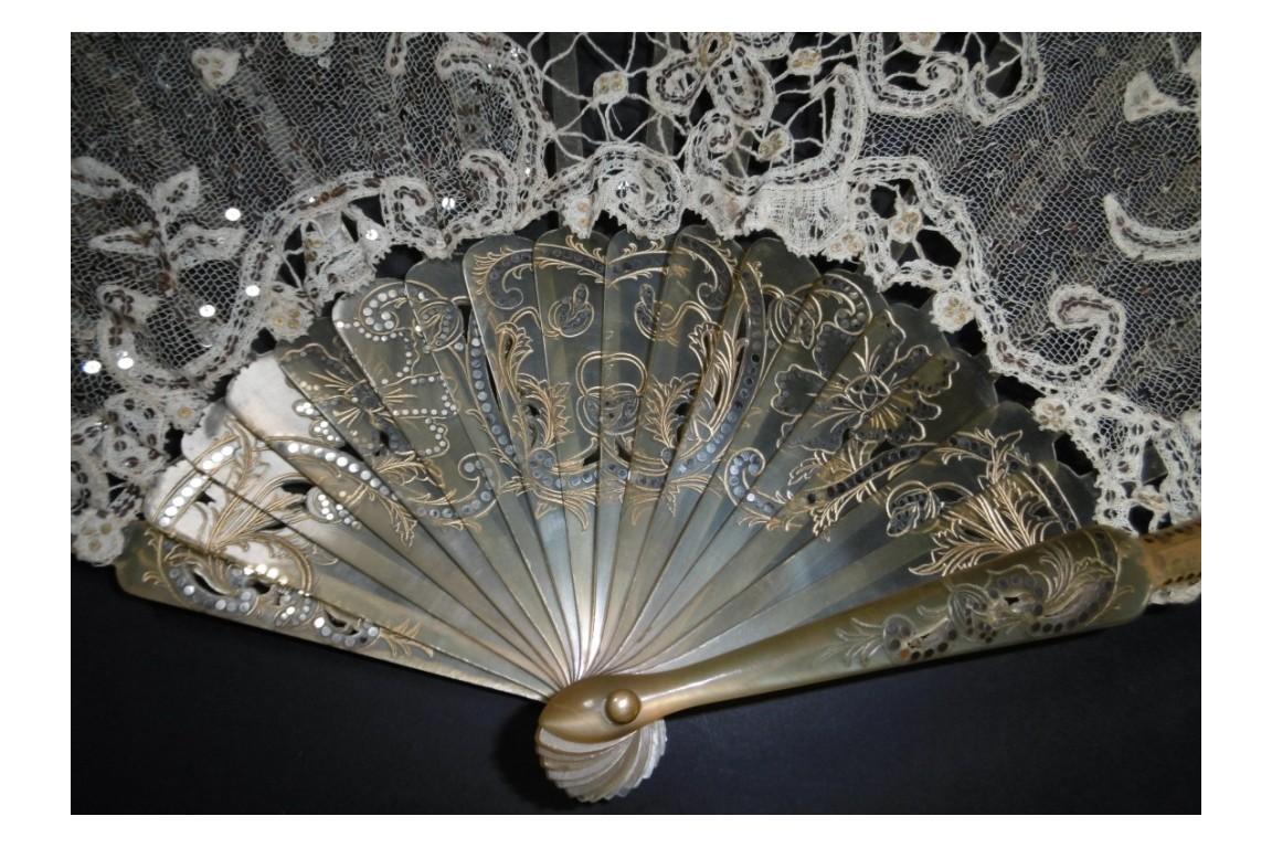 Large flicker, fan circa 1900-1910