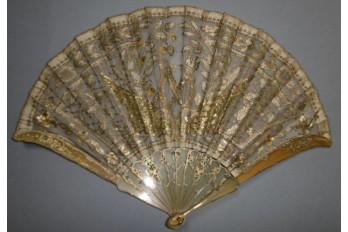 Les ailes de l'amour, éventail vers 1900