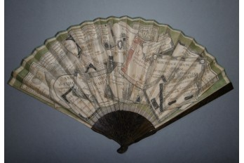 Assignats, revolutionnary fan, circa 1792